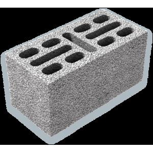 Перегородочный пустотелый керамзитобетоный блок 200х200х400 мм некондиция