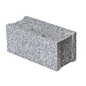 Стеновой полнотелый керамзитобетоный блок 390х120х188 мм пазогребневый