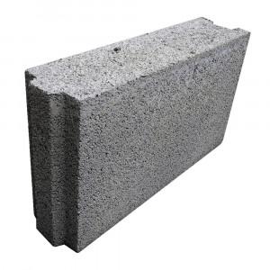 Стеновой полнотелый керамзитобетоный блок 300х200х400 мм скц / пазогребневый