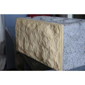 Облицовочный пустотелый керамзитобетоный блок 200х200х400 мм с облицовкой