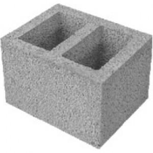 Вентеляционный пустотелый керамзитобетоный блок 390х120х188 мм прямой