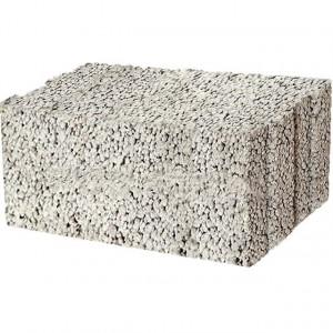Стеновой полнотелый керамзитобетоный блок 400х400х200 мм с утеплителем / пазогребневый