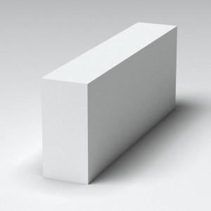 Перегородочный полнотелый газоблок Поревит D600 размером 200х200х600 мм