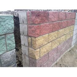 Облицовочный керамзитобетоный блок 390х190х188 мм