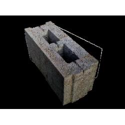 Перегородочный керамзитобетоный блок 200х200х400 мм