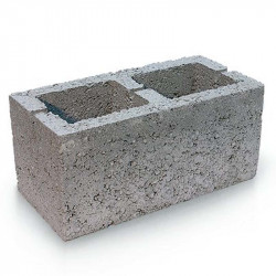 Вентеляционный керамзитобетоный блок 200х200х400 мм