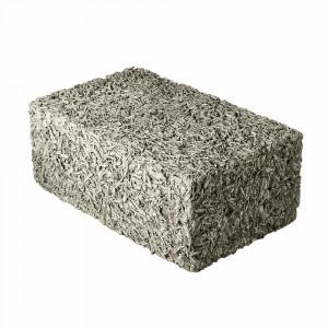 Стеновой полнотелый арболитовый блок 500х250х400 мм