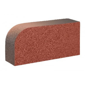 Керамический лицевой полнотелый радиусный кирпич КС-Керамик Аренберг ручной формовки