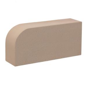 Керамический лицевой полнотелый радиусный кирпич КС-Керамик гладкий